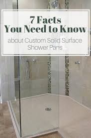 custom solid surface shower pan design ideas facts innovate pertaining to custom shower pans