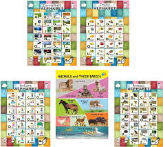 Alphabet Animal Their Babies Interactive Poster Chart For