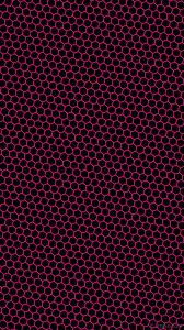 Wallpaper Pink Black Beehive Hexagon Honeycomb 000000 Ff1493
