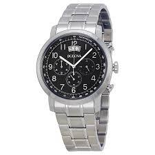 bulova dress chronograph black dial stainless steel men s watch bulova dress chronograph black dial stainless steel men s watch 96b202