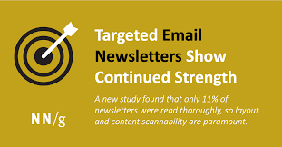 News Letters Targeted Email Newsletters Show Continued Strength