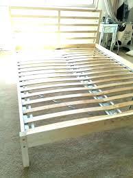 Slatted Bed Frame Double Slatted Bed Frame Solid Pine Wood White ...