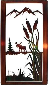 tree scene metal wall art:  images about moose wall art on pinterest wolves deer and products