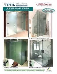 types of shower glass doors