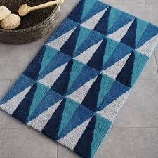 angles bath rug blue bath rugs and mats27 bath