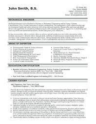 Mechanical Engineering Resume Templates Accurate Impression Engineer