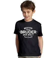 Bester Kleiner Bruder Der Welt Sprüche Kinder Jungen T Shirt Als