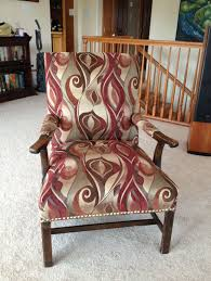 picture of reupholster a chair from the bones up