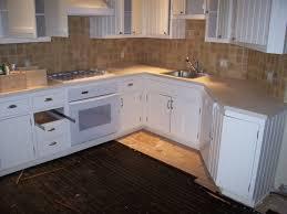 Unfinished Cabinet Doors Kitchen Square Backsplash Tile Model Closed Gas Stove Near Single