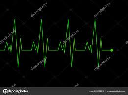 Cardio Monitoring System Isolated Black Background Heart
