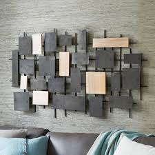 hammered wood and iron wall art cream and brown wood rectangular with metal hang on modern  on rectangular wooden wall art with wall art best ideas wood and iron wall art wood and metal wall