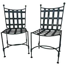 black wrought iron patio furniture. viyet designer furniture seating salterini wrought iron patio chairs black