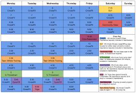 Class Schedule Crossfit Beacon
