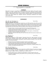 Sales Manager Resume Examples Template Restaurant Profile Bunch Ideas Of Effective Hospitality 61