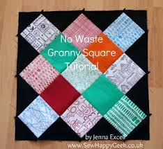 quilt block tutorial & Mini-Tutorial: No Waste Granny Square Quilt Blocks Adamdwight.com