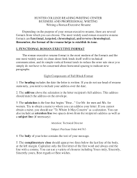 functional executive resume roman executive resume format writing