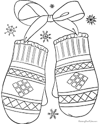 Small Picture Mitten Coloring Pages Syougitcom