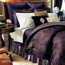dark purple quilt fabric plum comforter sets king bedding and gold chaps home set k dark purple