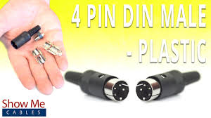 how to install the 4 pin din male solder connector plastic you rh you com mono phono plug wiring stereo plug wiring diagram