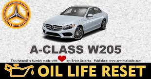 Recommended maintenance for model year 2009 or newer. How To Reset Mercedes Benz C Class W205 Service Light