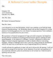 referral sample application cover letter template cover letter sample application