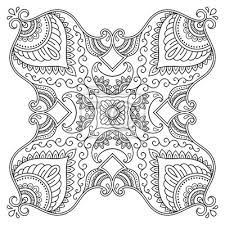 Fototapeta Vector Henna Tetování Mandala Mehndi Styledecorative Vzor V