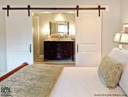 bypass barn door bedroom traditional with barn barn door hardware