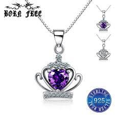 whole 925 sterling silver crown pendant choker pendants for women kolye pendentif jewelry colgantes bijoux en argent 925 necklaces letter pendant