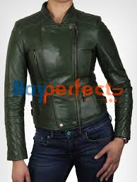 women s olive green biker leather jacket 149 99