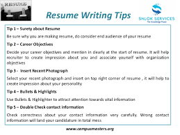 ... Resume Building Tips 18 Tips Resume For Format Professional Writing ...