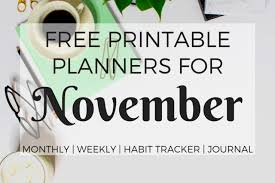 november calendar header calendars monthly planners archives page 6 of 7 printables and