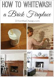 have you ever wondered how to whitewash a brick fireplace we decided to do this to our dated brick fireplace and today i ll walk you through the entire