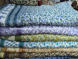 Buy Hand Block Gold Print Cotton Single Bed Quilt 107 Online ... & Indian Cotton Quilts Australia Buy Cotton Quilts Online India Cotton Quilts  And Coverlets From India New ... Adamdwight.com