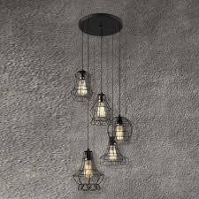 multi light pendant lighting fixtures. Cage Style 5 Light Multi Restaurant LED Pendant Lighting Fixture Fixtures