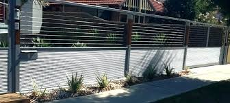 modern metal fence design. Modern Metal Fence Design Contemporary Incorporating A Within Designs Idea Pool Pictures