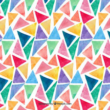 Pattern Magnificent Colorful Watercolor Triangles Pattern Vector Free Download