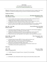 Analyst Resume Analyst Resume Sample