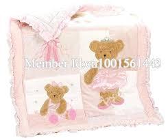 teddy bear crib bedding sets pink girl lovely bear baby crib bedding set cot crib bedding