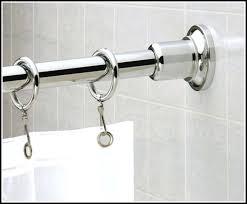 polished nickel curtain rod adjule shower curtain rod s chrome bathroom inside tension shower curtain rods