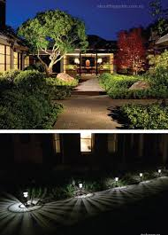 perfect outdoor lighting setting