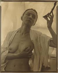 A nude study of painter Georgia O Keeffe by Alfred Stieglitz in a.