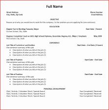 Job Resume Builder Resume Builder For High School Students Lovely Blank Resume 32