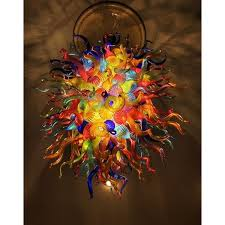 multi color handmade blown murano glass chandelier chihuly style murano glass ceiling decorative modern art chandelier