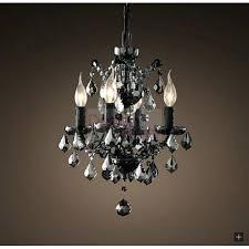 iron crystal chandelier c rococo round black