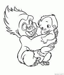 Tok Et B B Tarzan Est Un Coloriage De Tarzan