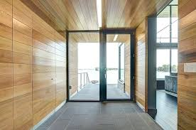 modern glass front door entry by general contractors four corners construction doors residential