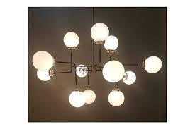 large avi modern industrial chandelier mid century modernist ceiling lamp 12 light photo