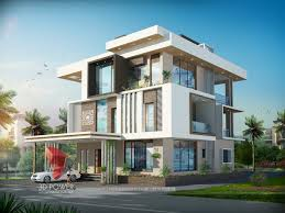 bungalow elevation 3d building rendering bungalow design india architecture  visualisation