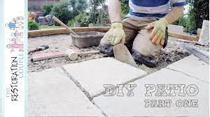 laying a natural stone patio diy