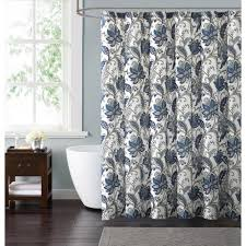 style 212 bettina fl 72 in blue and grey shower curtain